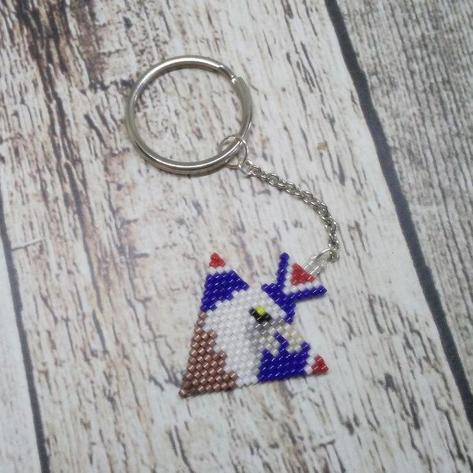 Eagle Head Keychain   Beaded Arrowhead Keychain   Native Inspired Beadwork   Beaded Key Ring   Native Style Accessory   Beaded Zipper Pull by PrimitiveRiches, $15.00 USD