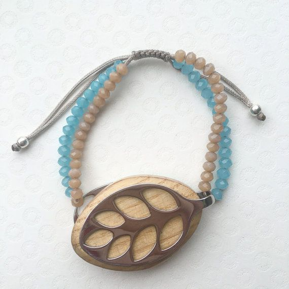 Custom handmade bracelet for the Leaf by Bellabeat. This listing does NOT include the fitness tracker. This bracelet is made of silky cord, glass