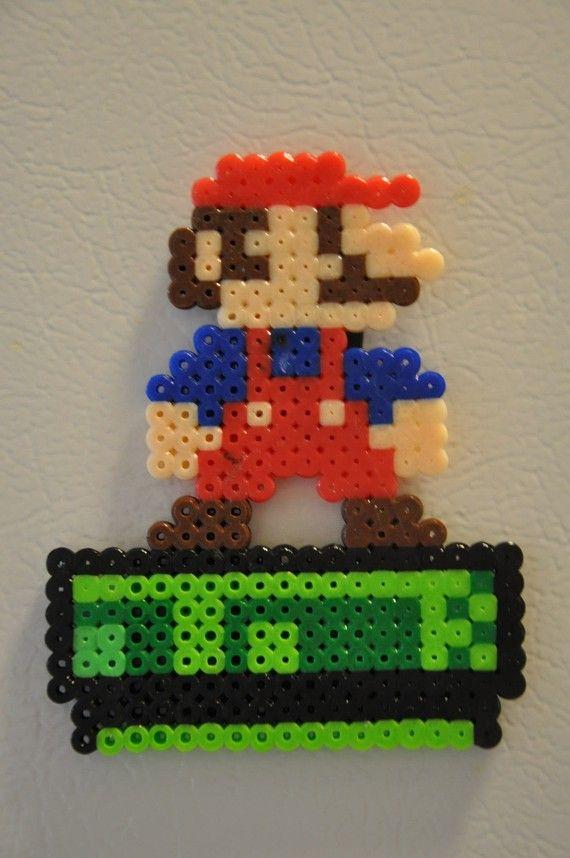 Mario Perler Bead magnet