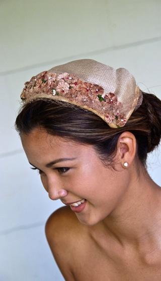 Antoinette - Ivory straw vintage bonnet