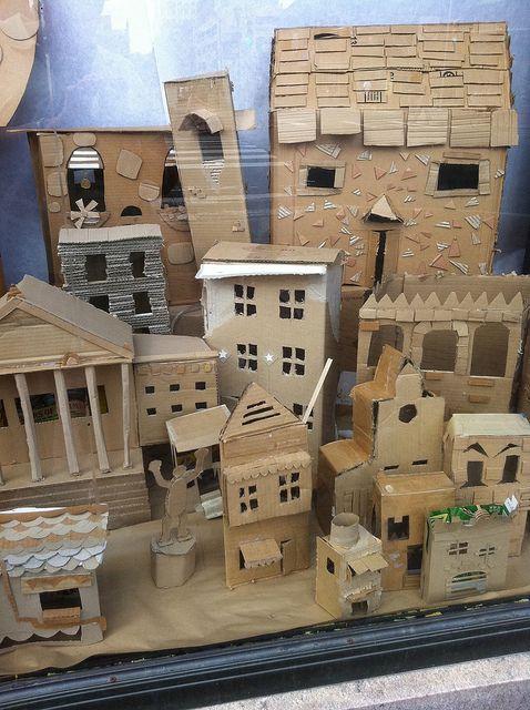 Cardboard Indoor Playhouses for Kids