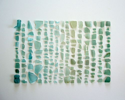 Sea Glass Spectrum - Take 1: sea glass from blue to green
