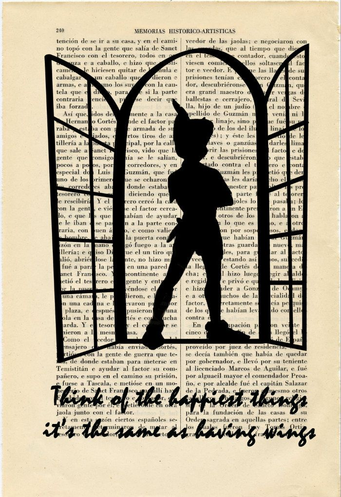 best peter pan tattoo ideas images disney stuff  peter pan nº6 silhouette happiest things art by thepurplehamster