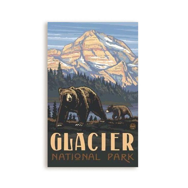 Glacier National Park Bear Poster
