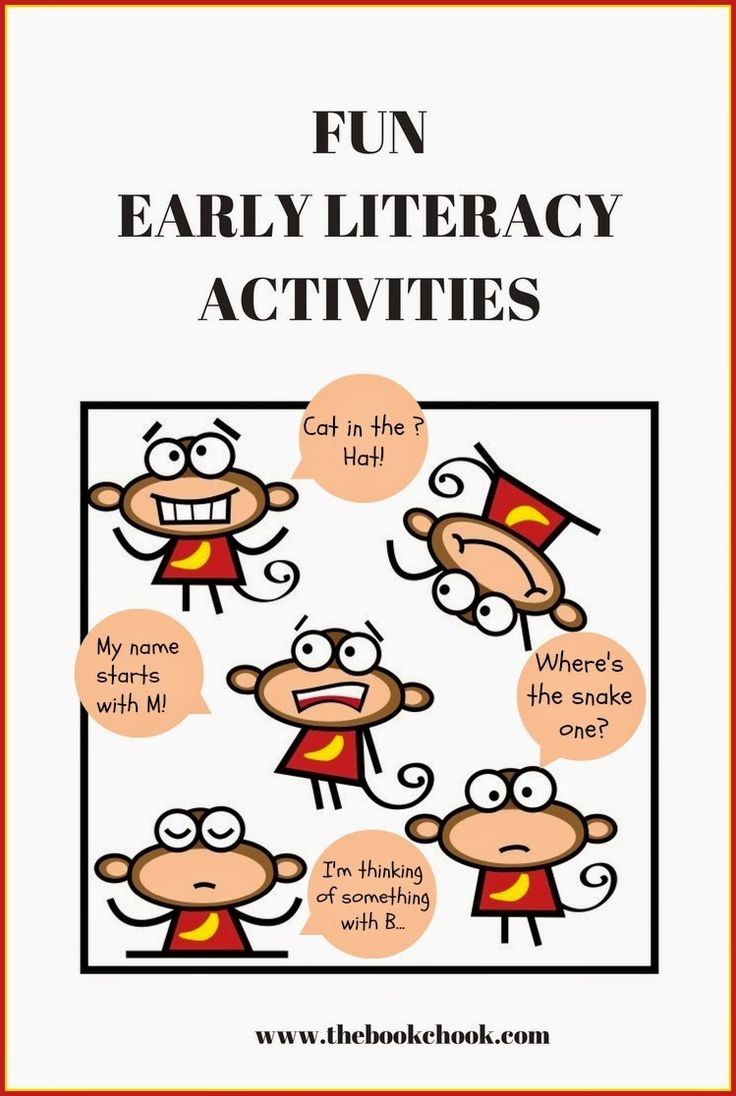 Fun Early Literacy Activities, including some I use for Storytime. #literacy #ece