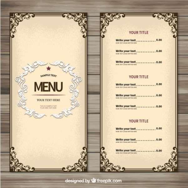 The 25+ best Restaurant menu template ideas on Pinterest Menu - sample menu template