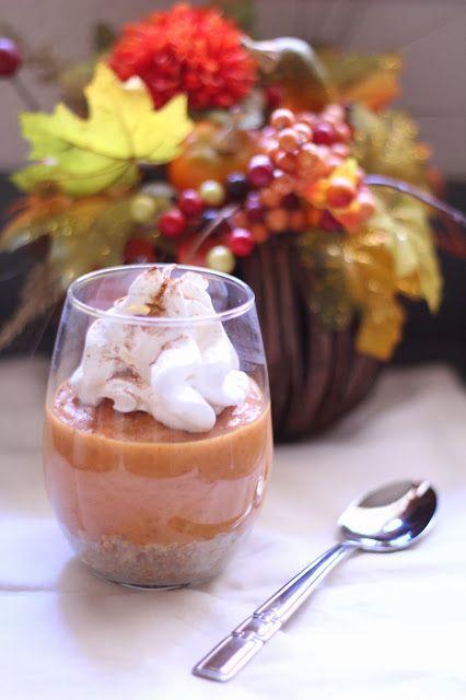 Pumpkin Pudding Pie (No Bake)