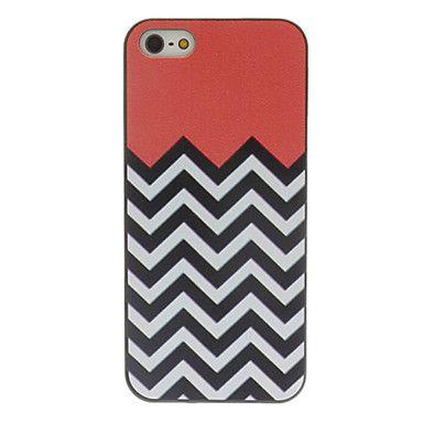 fekete-fehér hullámok színes rajz minta fekete keret db kemény tok iPhone 5/5s – EUR € 2.75