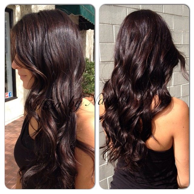 Rich mahogany brown with some dimension on @haley_m3 #darkbrownhaircolor…