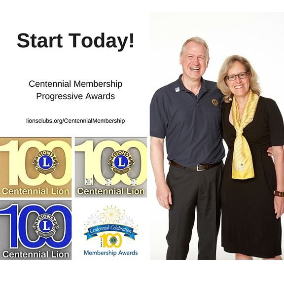 When you sponsor a new member and they stay for at least a year and a day, you'll be recognized as a Silver Centennial Sponsor!  Visit the Centennial Membership Awards website to learn more about our Limited Edition awards! http://lion.ly/RN5X2