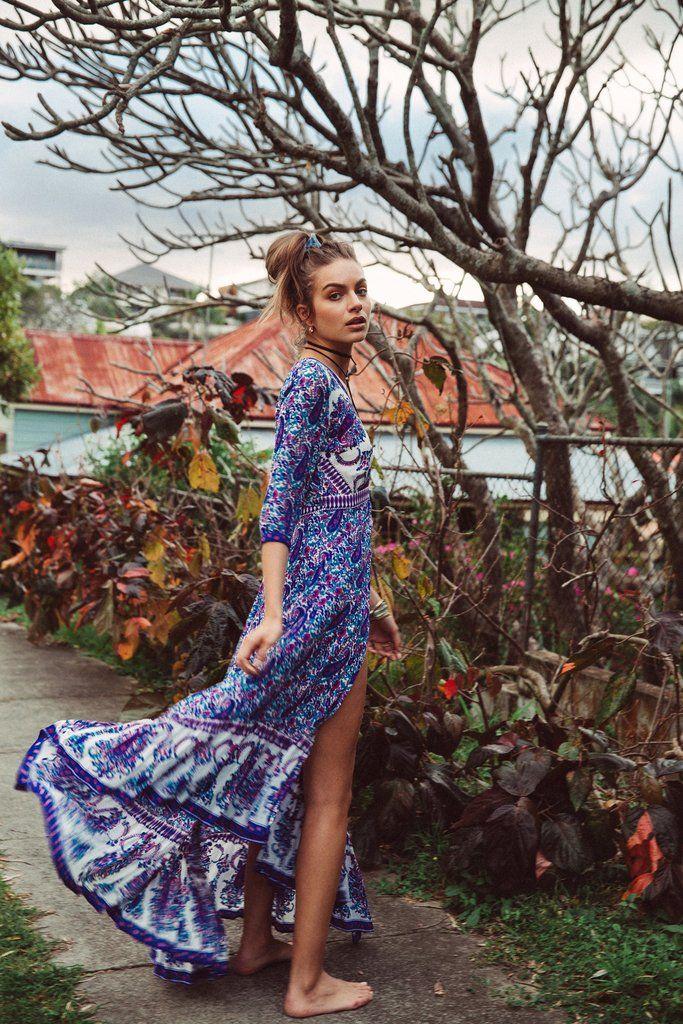 Wild Magnolia Maxi Dress in Oasis by Arnhem Clothing #bohemian #boho #chic #maxi #goddess