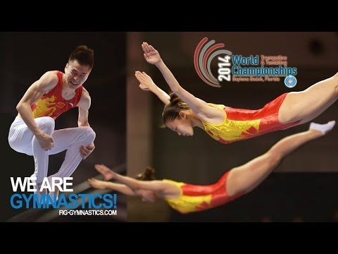 HIGHLIGHTS - 2014 Trampoline Worlds, Daytona Beach (USA) - SYN Women & TRA Men - We are Gymnastics! - YouTube