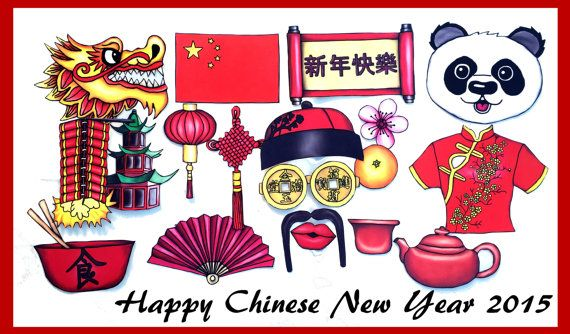 Chinese New Year/ China photo booth props perfect for your
