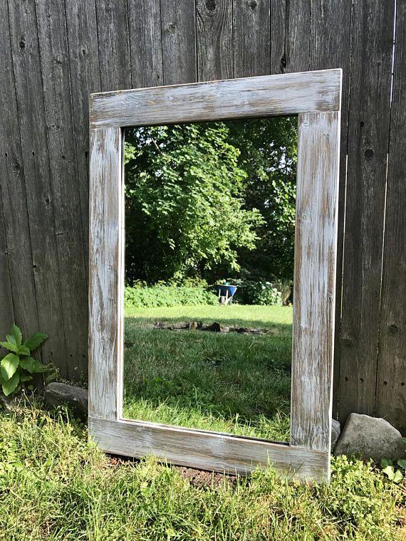 Miroir badigeon clair bois cadre en bois miroir miroir