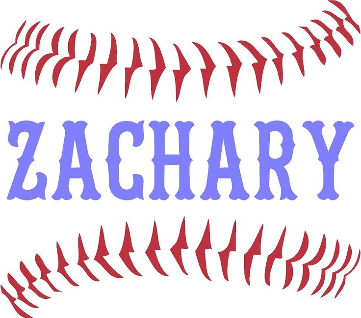 Personalized Name Baseball Stitches Vinyl Wall Art Decal Kit 2 Colors Large 2999 Via