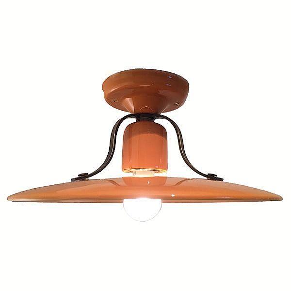 Italian Ceramic Semi-Flush Ceiling Light Giallo £136.00