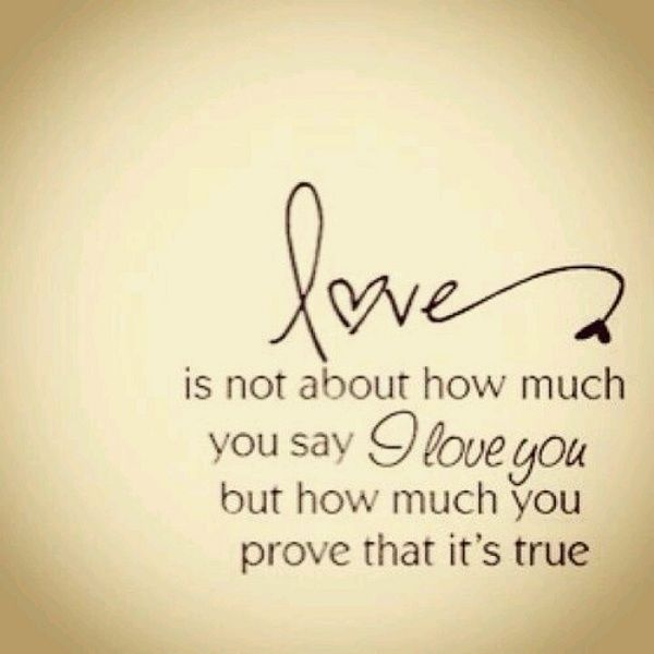 Love is not about how much you say I love you but how much you prove that it's true. www.halebarbie.com