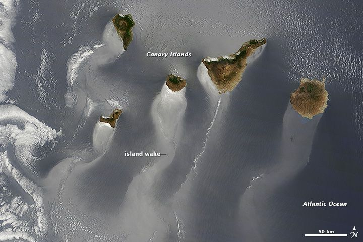 This satellite image of the Canary Islands is NASA's 2014 Tournament Earth winner.