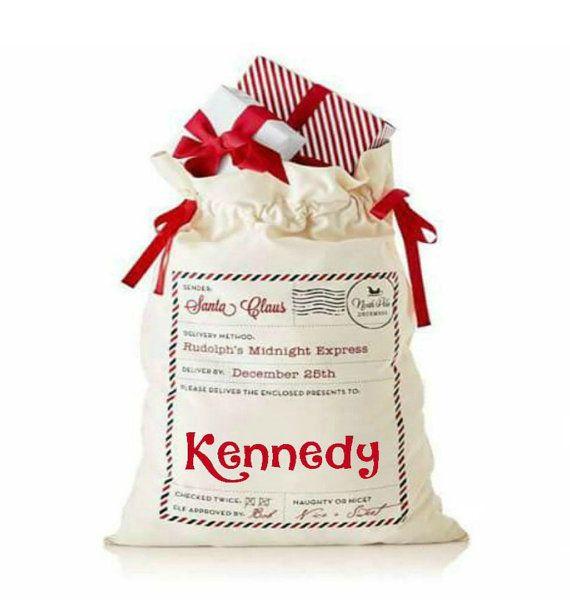 Santa Sack Gift Bag Personalized Santa Sack by MonogrammedMommies