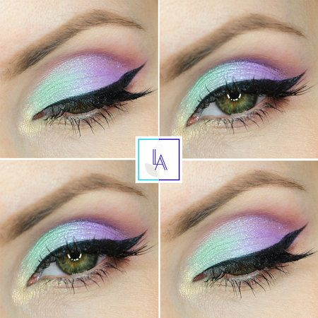 Unicorn - #eyeshadow #eyes #pastelshadow #eyemakeup