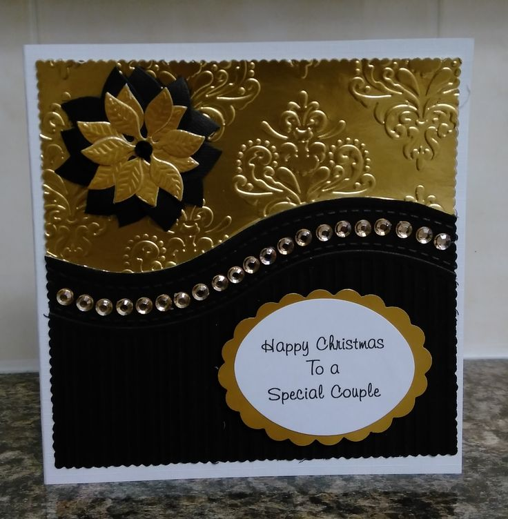 Another version of the card made using the free All-Occasions Embossing folder from Papercraft Essentials magazine Issue 122