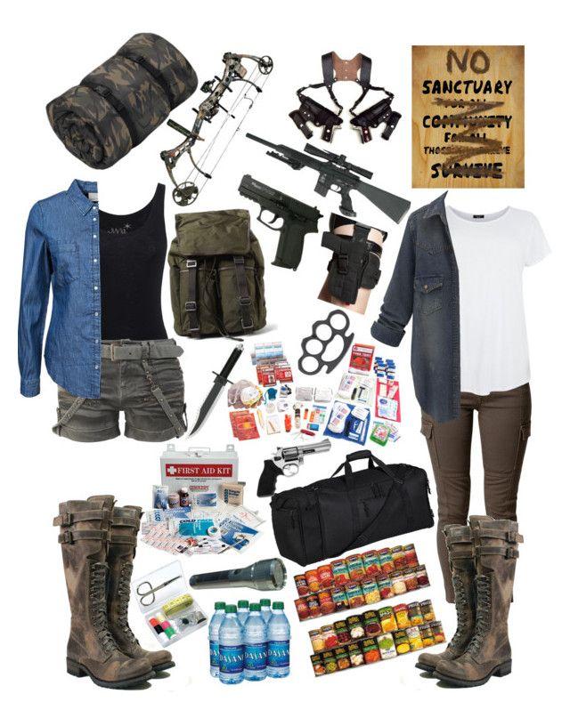 """Zombie Apocalypse Chick"" by batman-girl616 ❤ liked on Polyvore featuring Juvia, Dolce&Gabbana, Savannah, Vero Moda, Elite, Revolver, women's clothing, women's fashion, women and female"