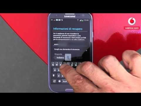 Come faccio a: configurare un account di posta elettronica con un Samsung Galaxy S III.