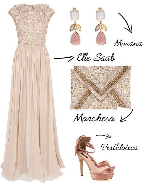 Montei o look com este vestido Elie Saab que considero muito elegante. A princípio um vestido de festa sem fenda nem decote pode parecer est...