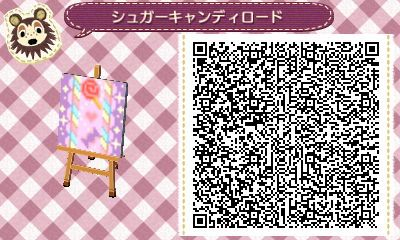 Candy Pattern Animal Crossing New Leaf Qr Code Passage D