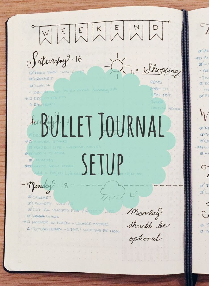 Bullet journal dailies. Read my blog post about how I set up my first bullet journal.