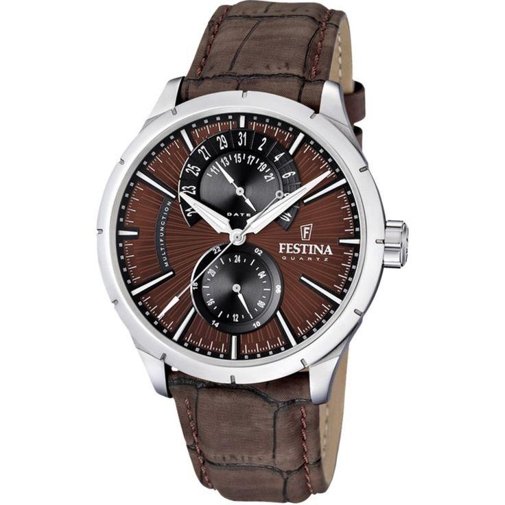 Festina FESTINA 16573/6 to zegarek przeznaczony dla mężczyzn ceniących nowoczesną klasykę. #zegarek #zegarki #timetrend