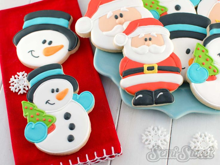 How to Make Snowman Cookies by SemiSweetDesigns.com