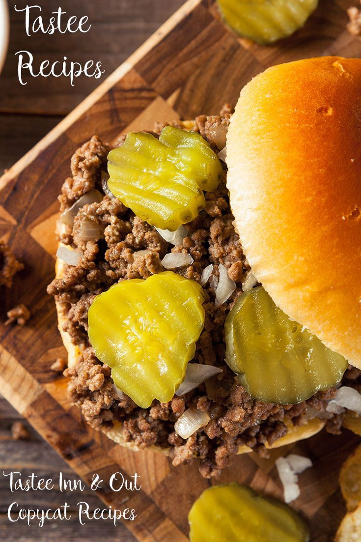 Tastee Recipes: Tastee Inn & Out Copycat recipes. Find the iconic Tastee loose meat sandwich, Onion chips and dip!