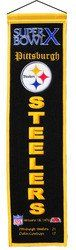 "Pittsburgh Steelers - Super Bowl 10 Wool Heritage Banner - 8""x32"""
