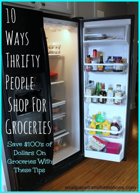 10 ways thrifty people shop for groceries
