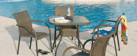 We have an assortment of deck furniture including Adirondack chairs, picnic tables, and beach chairs. We also have quality patio accessories from patio umbrellas to outdoor tiki bars. Visit our website today and see the modern porch furniture we have!