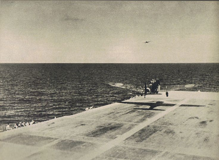 B5N2 torpedo bomber taking off from carrier Zuikaku to attack Pearl Harbor, US…