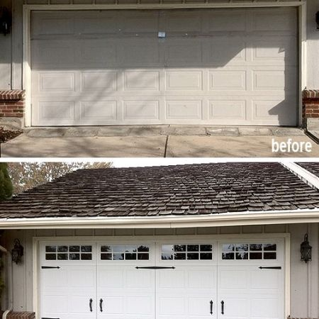 30 best before after exterior renovations images on pinterest photos before after garage doors solutioingenieria Images