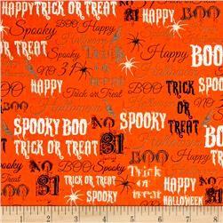 Spooky Words Orange