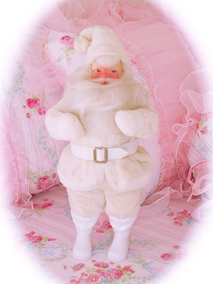 White vintage Harold Gale Santa Claus: Harold, Color, Christmas Decorations, Gale Santas, Christmas Shabby Chic, Pink, De L Amour, Christmas Ideas