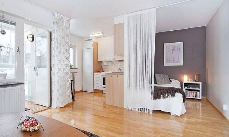 pomysł na aranżację małego mieszkania - pokój dziennie sprytnie połączony z sypialnią ;)