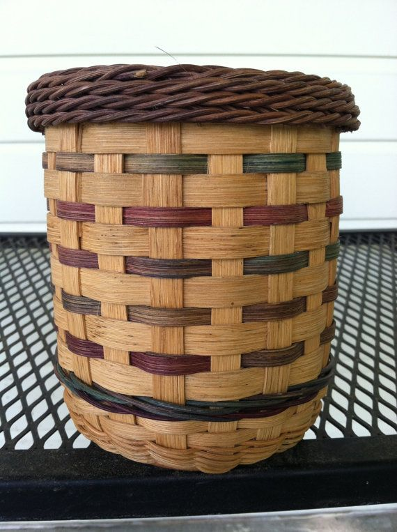 Hand woven Candle Basket to fit 22oz candle by BasketsByMichele