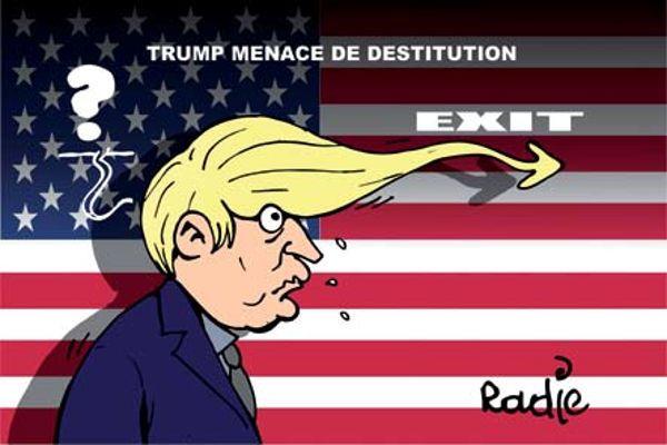 Ghir Hak (2017-05-21) USA: Donald Trump menacé de déstitution ÷÷  Caricature de Ghir Hak du 21-05-2017 | Presse-dz