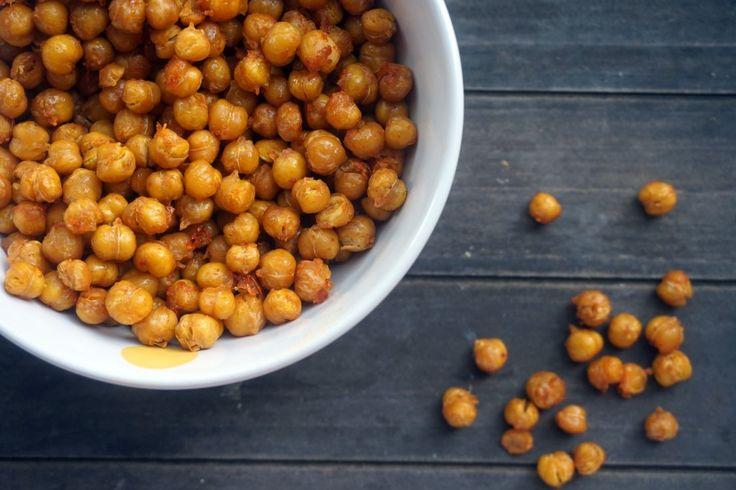 Healthy snack: geroosterde kikkererwten