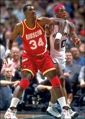Hakeem Olajuwon - Led the Houston Rockets to back to back NBA titles in 1994 and 1995.