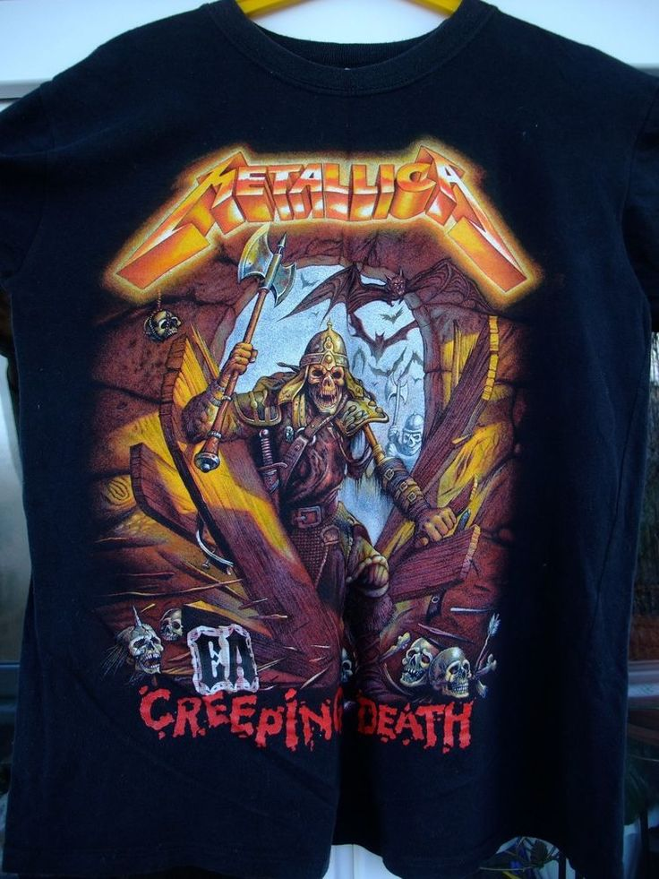 Metallica Creeping Death 66 /Cliff Burton/ shirt size M black #Unbranded #GraphicTee