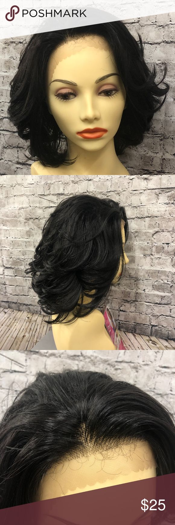 MLP11 synthetic lace front wig 1B NWT Meet MLP11!   She is a 1B (off black) lace…