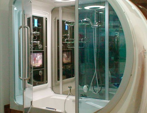 cabinets for bathrooms shower that also functions as bathtub and sauna 13119