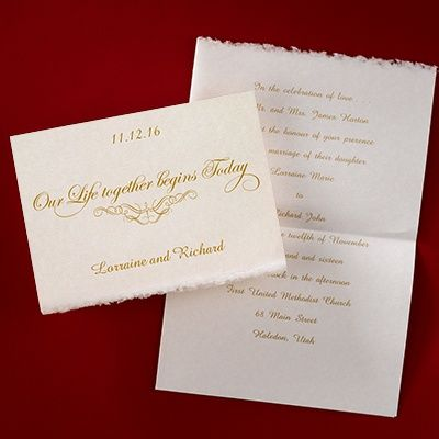 Our Life Together - #Invitation weddingneeds.carlsoncraft.com