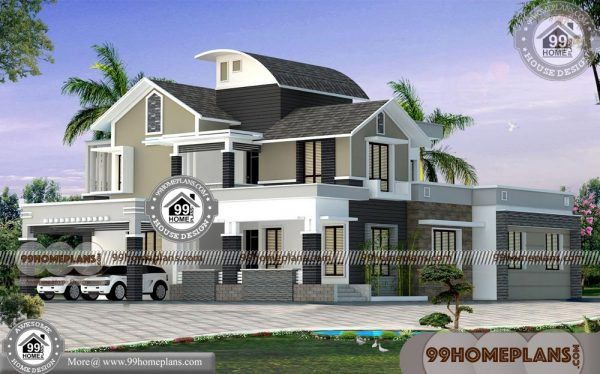 Exterior Elevation Design With Modern Two Story Homes 99 Home Plans Kerala House Design House Design House Plans